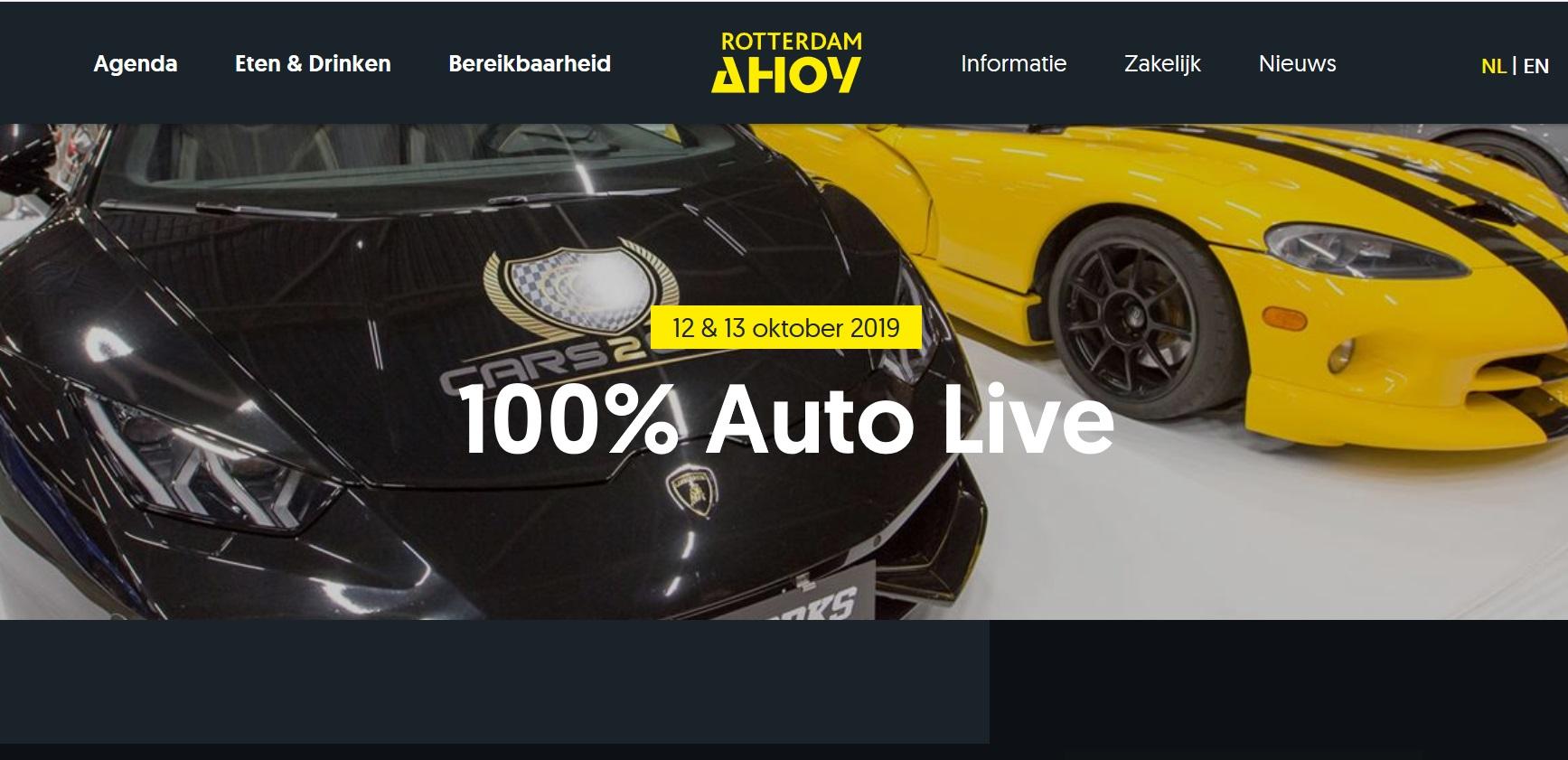 12 oktober 2019 100% Auto Live Ahoy Rotterdam