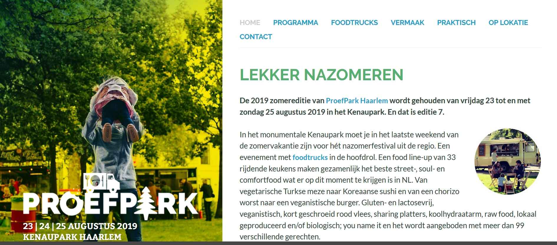 23 t/m 25 augustus 2019 Proefpark Haarlem