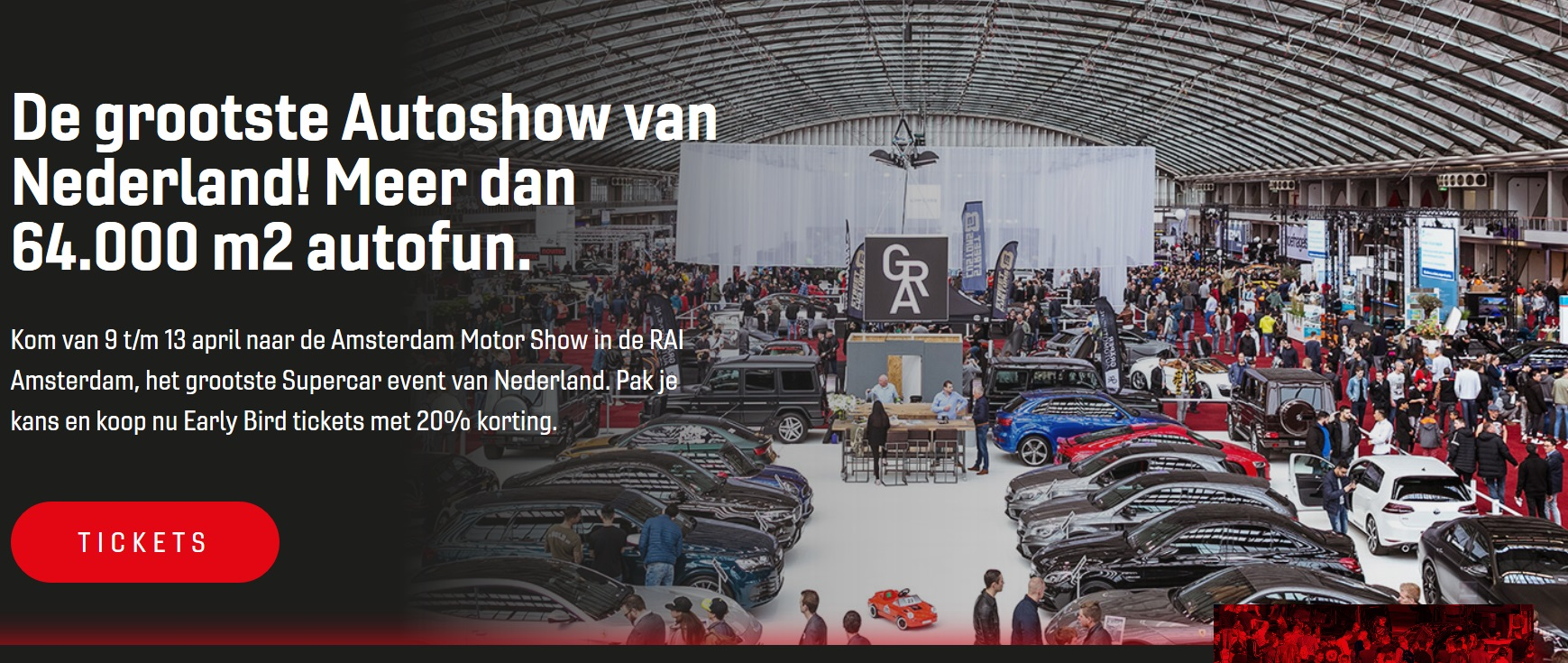 10 t/m 13 april 2020 International Amsterdam Motor Show - Amsterdam Noord-Holland