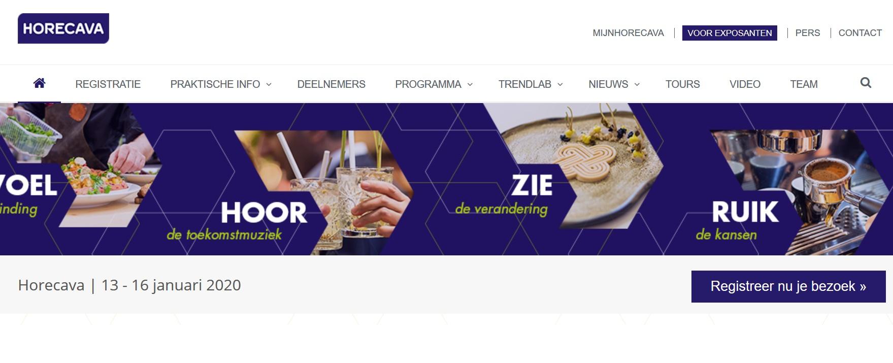 13 t/m 16 januari 2020 Horecava - Amsterdam RAI