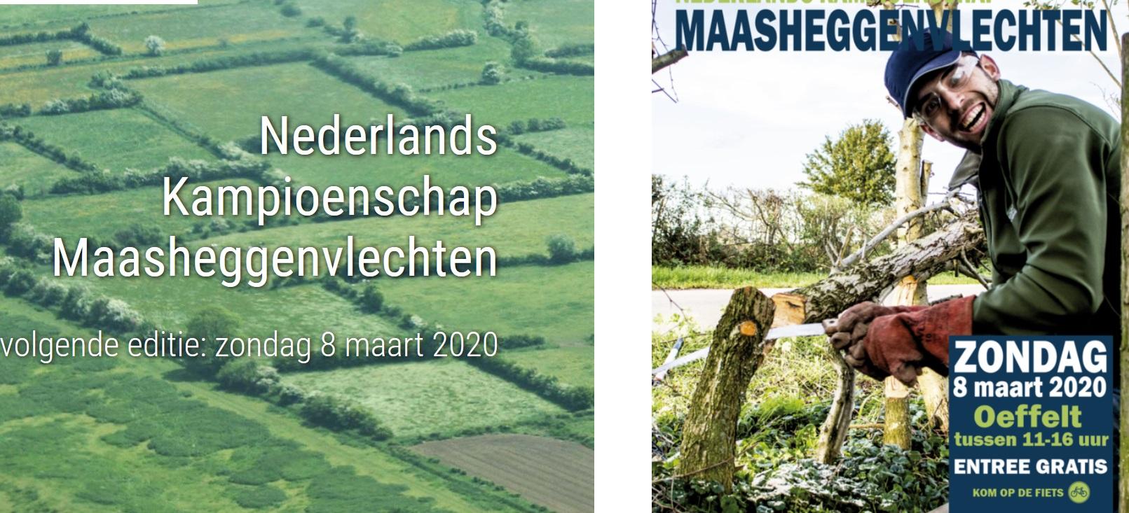 8 maart 2020 Nederlands Kampioenschap Maasheggenvlechten - Oefelt